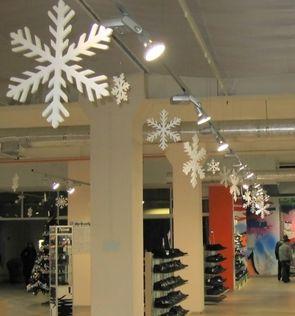 Как украсить зал магазина к новому году фото